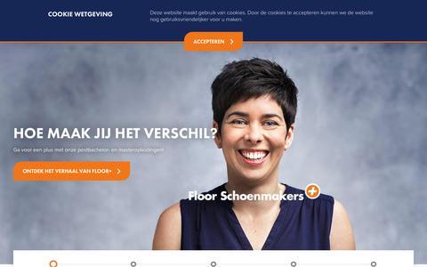 Screenshot of Home Page Site Map Page avansplus.nl - Avans+   Postbachelor (post-hbo) en master opleidingen - captured April 11, 2017
