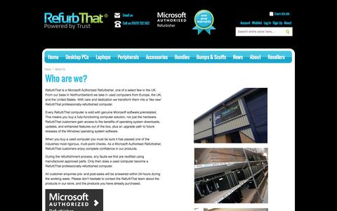 Screenshot of About Page refurbthat.com - About Us | RefurbThat - captured Oct. 10, 2014