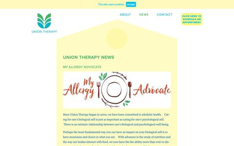 Screenshot of Press Page uniontherapy.com - news - Union Therapy - captured Oct. 20, 2018