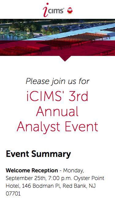 iCIMS Analyst Event