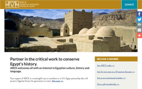 Screenshot of Signup Page arce.org - Partner in the critical work to conserve Egypt's history. | ARCE - captured Oct. 3, 2018