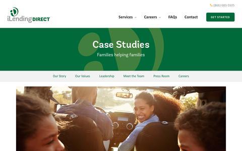 Screenshot of Case Studies Page ilendingdirect.com - Testimonials Archive - iLendingDIRECT - captured Dec. 6, 2018