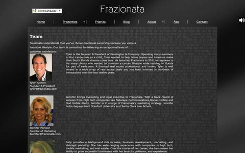 Screenshot of Team Page frazionata.com - Team | Frazionata - captured June 6, 2017