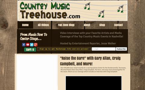 Screenshot of Home Page countrymusictreehouse.com - CountryMusicTreehouse.com |Video Interviews with Country Music Artists - captured Sept. 30, 2014