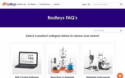 Screenshot of FAQ Page radleys.com - Product FAQs | Radleys - captured Feb. 20, 2020