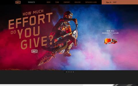 Screenshot of Products Page ride100percent.com - 100% Products - Goggles, Eyewear, Sportswear and Accessories   Ride 100% - captured Feb. 14, 2016