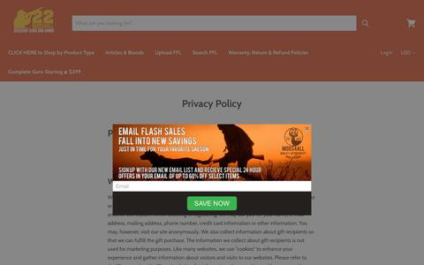 Screenshot of Privacy Page 22mods4all.com - Privacy Policy - captured Oct. 20, 2018