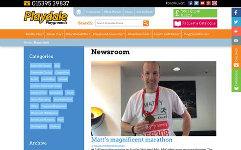 Screenshot of Press Page playdale.co.uk - Newsroom - Playdale Playgrounds - captured April 29, 2016