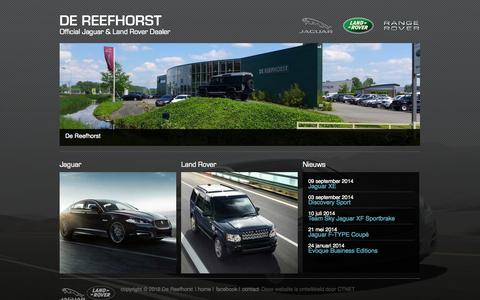 Screenshot of Home Page reefhorst.nl - DE REEFHORST - Official Jaguar & Land Rover Dealer - captured Oct. 5, 2014