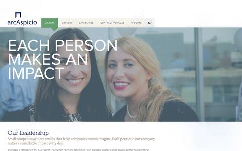 Screenshot of Team Page arcaspicio.com - Leadership | Arc Aspicio - captured Nov. 5, 2015