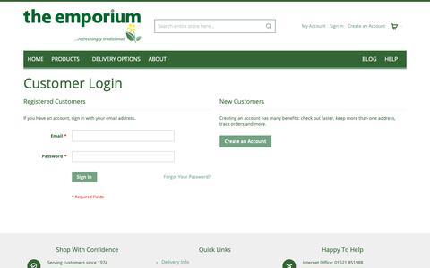 Screenshot of Login Page theemporiumdirect.co.uk - Customer Login | Emporium Direct Online Shopping - captured Nov. 18, 2018