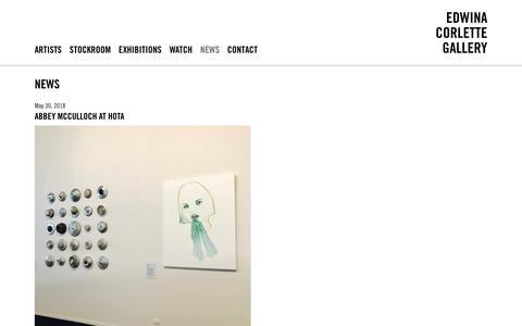 Screenshot of Press Page edwinacorlette.com - Edwina Corlette Gallery - Contemporary Art Brisbane - captured Sept. 25, 2018