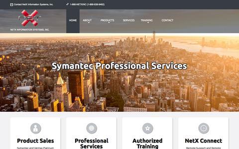 Screenshot of Home Page netxinc.com - NetX Information Systems, Inc. - captured Aug. 13, 2015