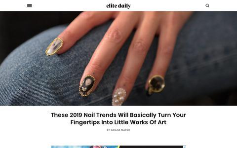 Screenshot of Home Page elitedaily.com - Elite Daily - captured Jan. 18, 2019