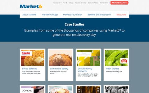 Screenshot of Case Studies Page market6.com - Case Studies | Market6 - captured Nov. 26, 2015