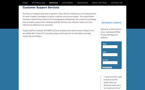 Screenshot of Trial Page psytechsolutions.net - Customer Support Services   PsyTech - captured Nov. 12, 2016