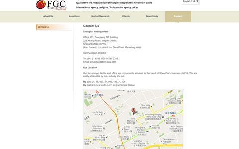 Screenshot of Contact Page focusgroupchina.com - FocusgroupChina.com - captured Oct. 6, 2014