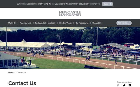 Screenshot of Contact Page newcastle-racecourse.co.uk - Contact Us | Newcastle Racecourse - captured Nov. 12, 2017