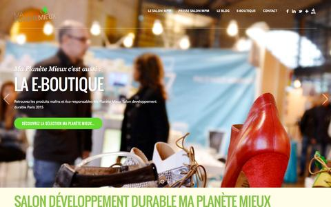 Screenshot of Home Page salon-developpement-durable.com - salon developpement durable paris MA PLANETE MIEUX - captured Sept. 19, 2015