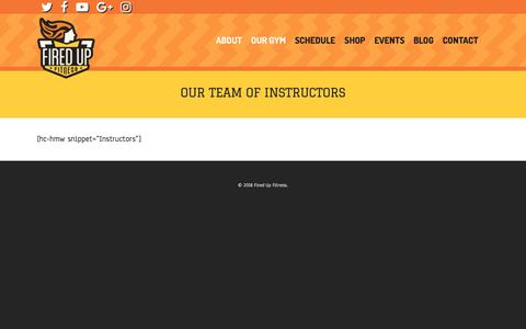 Screenshot of Team Page firedupfw.com - Our Team of Instructors | Fired Up Fitness - captured Feb. 5, 2018