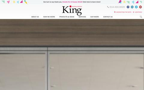 Screenshot of Home Page kbiinc.com - Modern Office Furniture Columbus | King Business Interiors - captured Dec. 11, 2015