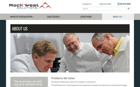 Screenshot of About Page rockwestsolutions.com - About Us – Rock West Solutions - captured Nov. 4, 2017