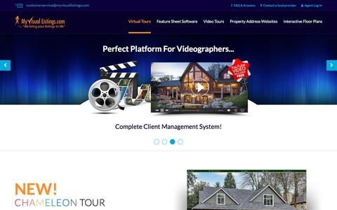 Screenshot of Home Page myvisuallistings.com - MyVisualListings - Real Estate Virtual Tours Software & Hosting - captured Sept. 21, 2018