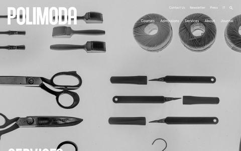 Screenshot of Services Page polimoda.com - Services • Polimoda - captured Nov. 10, 2018