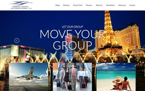 Screenshot of Home Page forbes-travel.com - Home - Forbes Travel - captured Oct. 6, 2014