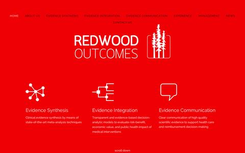Screenshot of Contact Page redwoodoutcomes.com - Redwood Outcomes - captured Oct. 25, 2014