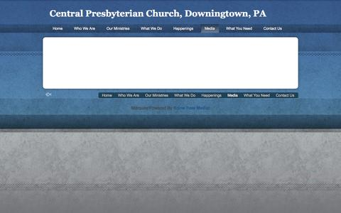 Screenshot of Press Page cpcdowningtown.org - Media « Central Presbyterian Church, Downingtown, PA Central Presbyterian Church, Downingtown, PA - captured Oct. 2, 2014