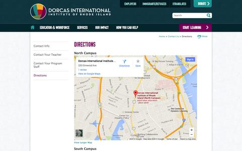 Screenshot of Maps & Directions Page diiri.org - Directions - captured Oct. 5, 2014