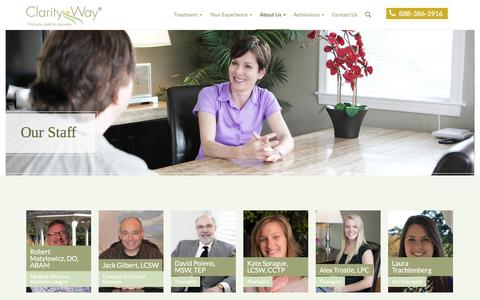 Screenshot of Team Page clarityway.com - Treatment Team | Clarity Way Rehab Center - captured Oct. 23, 2016