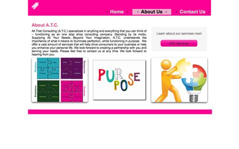 Screenshot of About Page allthatconsulting.com - About A.T.C. - captured Sept. 30, 2014