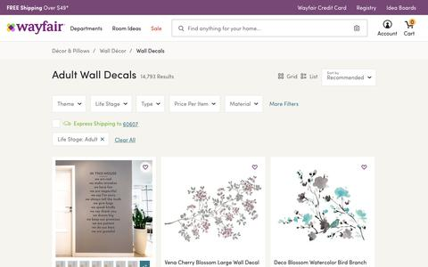 Adult Wall Decals You'll Love | Wayfair