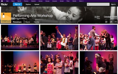 Screenshot of Flickr Page flickr.com - Flickr: Performing Arts Workshop's Photostream - captured Oct. 22, 2014