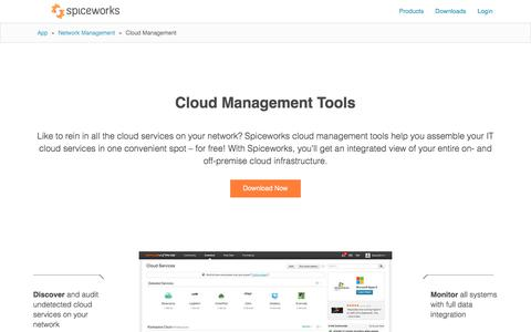Free Cloud Management Tools from Spiceworks