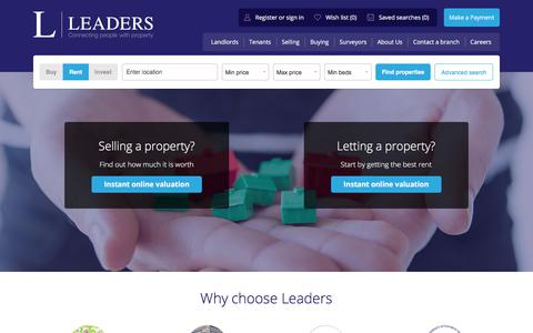 Screenshot of Home Page leaders.co.uk - Leaders - Letting & Estate Agents - captured Oct. 11, 2017
