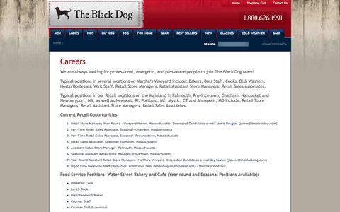 Screenshot of Jobs Page theblackdog.com - Black Dog Careers - captured Oct. 26, 2014