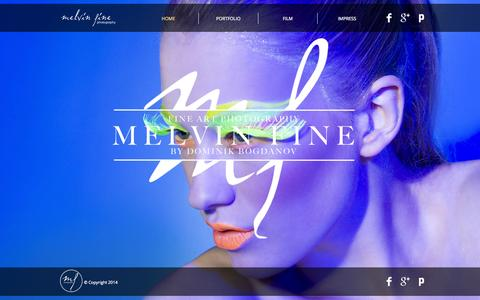 Screenshot of Home Page melvinfine.com - fine-art-photo-by-dominik-bogdanov-fotograf-salzburg - captured Oct. 6, 2014