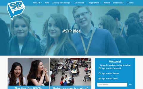 Screenshot of Blog syp.org.uk - MSYP Blog - Scottish Youth Parliament - captured July 9, 2017
