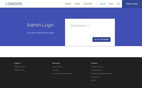 Screenshot of Login Page dimdata.com - DIMDATA - captured Aug. 5, 2018