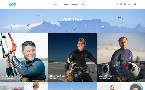 Screenshot of Team Page woosports.com - Team – WOO Sports - captured July 4, 2016