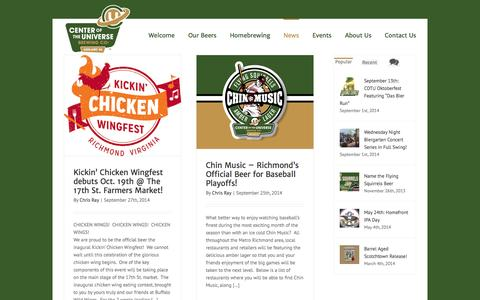 Screenshot of Press Page cotubrewing.com - Center of the Universe Brewing Company Blog - Center of the Universe Brewing Company - captured Oct. 2, 2014