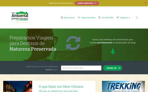 Screenshot of Blog ambiental.tur.br - Blog da Ambiental Turismo - Viagens de Lazer - captured Oct. 8, 2017