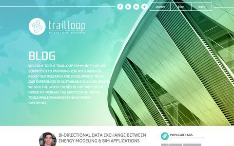 Screenshot of Blog trailloop.com - Trailloop Blog | Sustainable Building Design | Green Building Education | BIM | Energy Modeling | Green BuildingTrailloop - captured Nov. 5, 2014