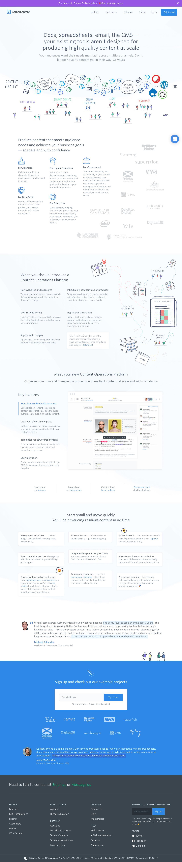 Screenshot of gathercontent.com - GatherContent - Content Operations Platform - captured May 21, 2018