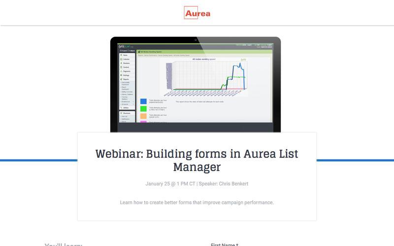 Building Forms in Aurea List Manager | Aurea
