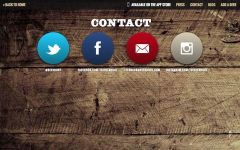 Screenshot of Contact Page beerhunt.com - Beer Hunt - captured Dec. 17, 2014