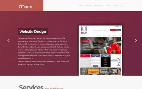 Screenshot of Home Page danits.in - DANITS PVT LTD - captured Oct. 5, 2014